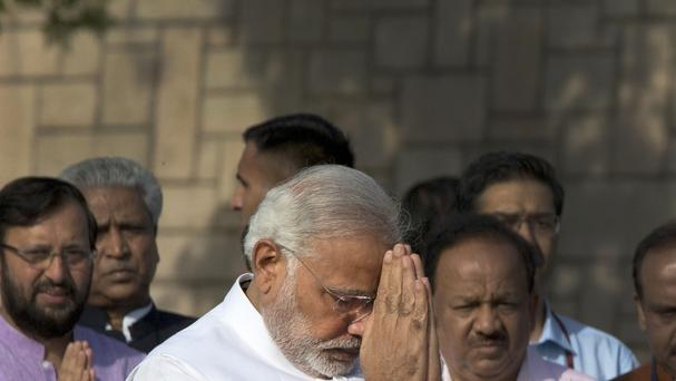 Narendra Modi has been sworn in as Indian Prime Minister (AP)