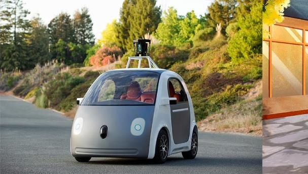 An early version of Google's prototype self-driving vehicle (Google/PA)