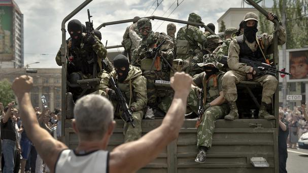 Sightings of Chechens have been reported among pro-Russian troops in Ukraine (AP)