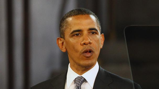 US president Barack Obama was speaking to a military academy