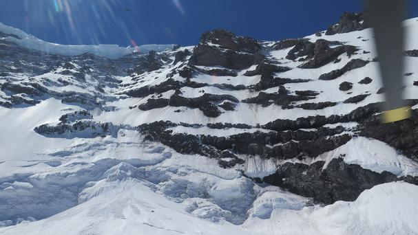 The Liberty Ridge Area of Mount Rainier as viewed from the Carbon Glacier (AP/National Park Service)