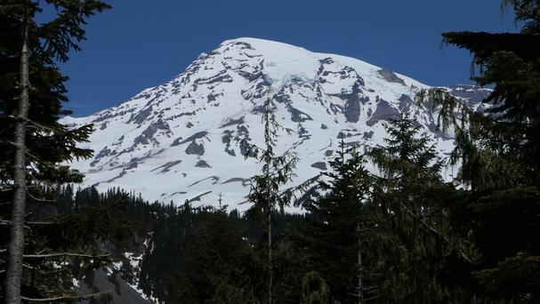 Mount Rainier National Park officials said there are no immediate plans to recover the bodies of the six climbers (AP)