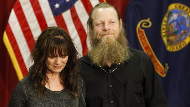 Sgt Bowe Bergdahl's parents, Jani and Bob, after their son's release from captivity (AP)