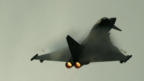 The Eurofighter Typhoon aircraft went down at the end of a routine practice flight