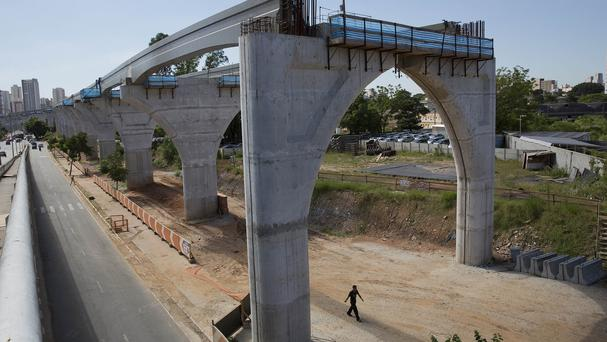 The killed worker was employed on a monorail line in Sao Paulo, Brazil (AP)