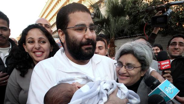 Alaa Abdel-Fattah has been jailed for 15 years (AP Photo/Amr Hafez, File)