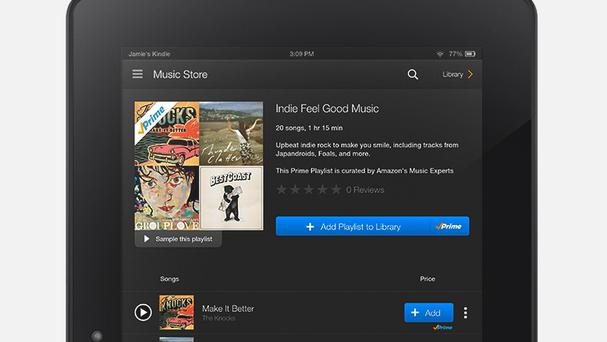 Amazon is introducing a music streaming service for its Prime members (AP/Amazon Music)