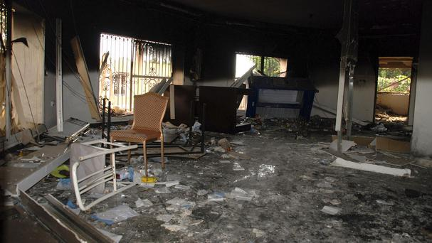 The aftermath of the attack on the US consulate in Benghazi, Libya (AP)
