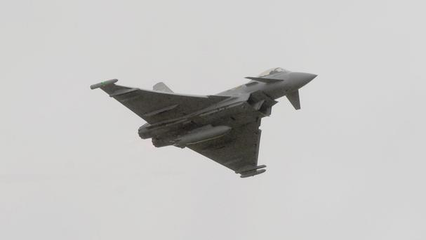 The plane collided with a Eurofighter military jet