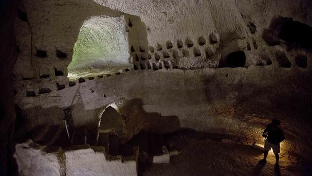 The Maze Cave of Beit Guvrin-Maresha in central Israel has been designated a World Heritage site (AP)