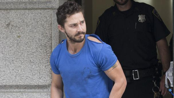 Shia LaBeouf leaves Midtown Community Court In New York (AP/John Minchillo)