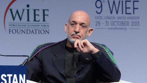 A rocket struck the helicopter of Afghanistan president Hamid Karzai