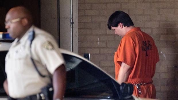 Justin Ross Harris, right, is being held without bond on a child cruelty and murder charge (AP Photo/David Goldman)