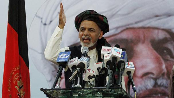 Afghanistan presidential candidate Ashraf Ghani Ahmadzai is said to be ahead in preliminary results (AP)