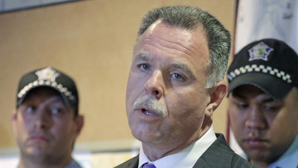 Garry McCarthy said 14 people were shot dead in Chicago over the holiday weekend, even though there were hundreds more police officers on the streets (AP)