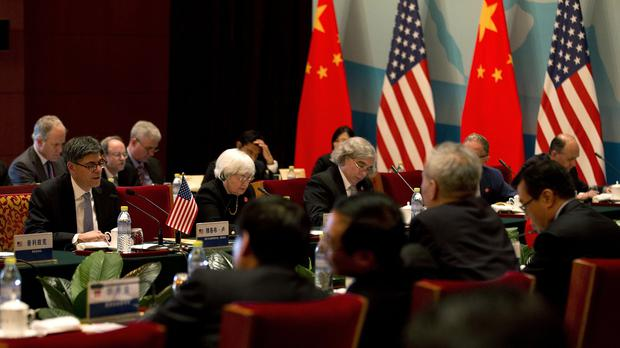US and Chinese officials during the 6th US-China strategic and economic dialogue at the Diaoyutai State Guesthouse in Beijing (AP)