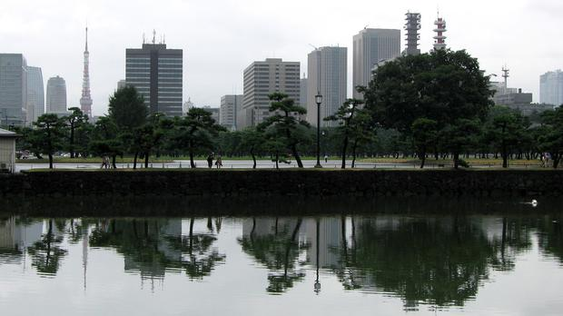 Buildings were shaken in Tokyo, about 120 miles from the epicentre of the earthquake