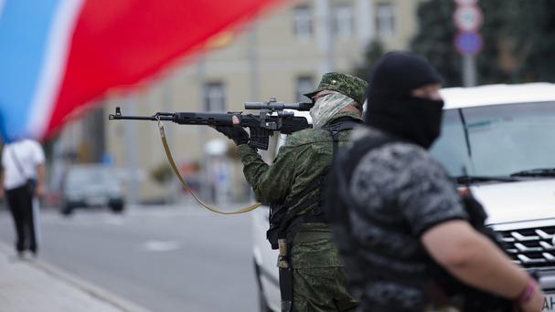 In the last two weeks, the Ukrainian government has halved the territory held by pro-Russia fighters (AP)