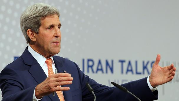 John Kerry is returning to Washington to consult with President Barack Obama and Congress about the state of negotiations (AP)