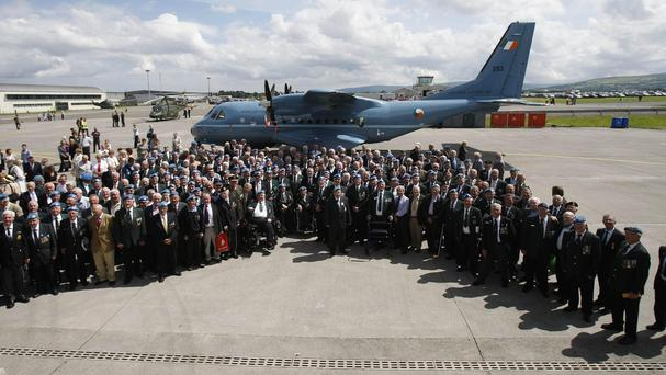 UN veterans at the 50th anniversary of the first deployment of Irish peacekeepers to the Congo
