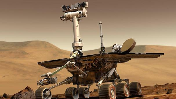 Nasa's Mars rover Opportunity has broken a travel record (Nasa)