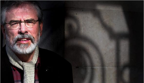 SHADOWS OF THE PAST: When Gerry Adams or other Sinn Feiners speak on the Middle East what you hear is not detached humanitarianism but their agenda in the Northern Irish struggle transferred to another stage. Photo: David Conachy