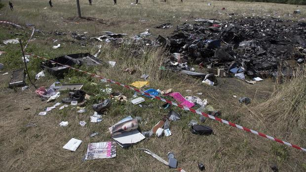 Officials have recovered more human remains from the site of a plane crash in Ukraine (AP)