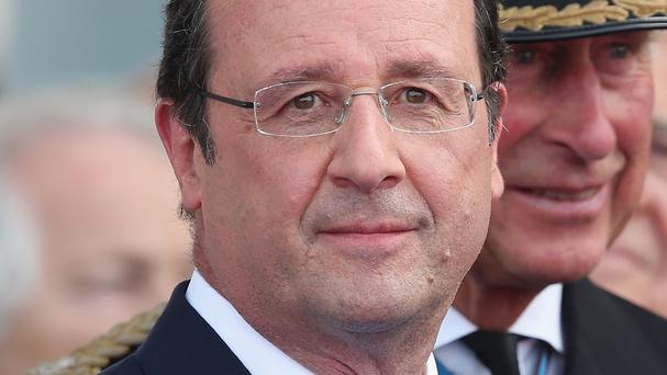 Francois Hollande urged the warring parties in Gaza to follow the example of Franco-German reconciliation