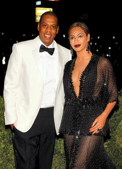 File photo of Jay Z and Beyonce arriving at the Metropolitan Museum of Art Costume Institute Gala Benefit in New York