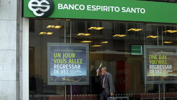 Portugal is putting up nearly £4bn to save ailing Banco Espirito Santo (AP)