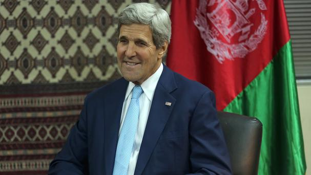 US Secretary of State John Kerry has been in Kabul amid Afghanistan's presidential election impasse (AP)