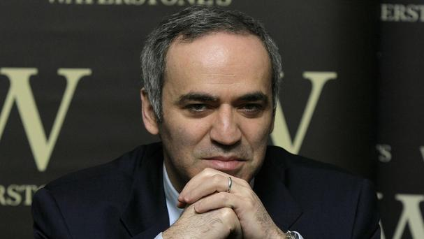 Former chess world champion Garry Kasparov