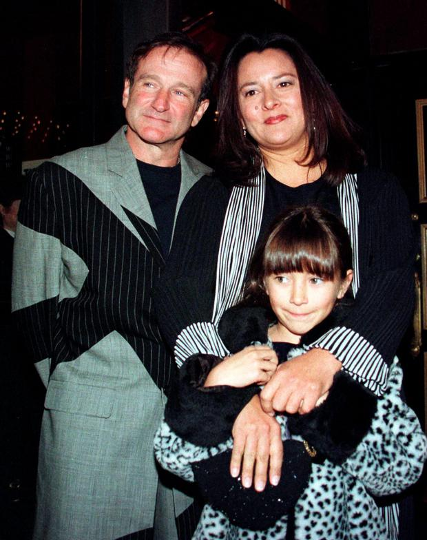 Robin Williams with his first wife Marsha and their daughter Zelda in 1998. Photo: Reuters