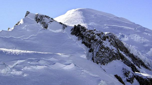 Five French climbers died climbing Mont Blanc, Europe's tallest mountain