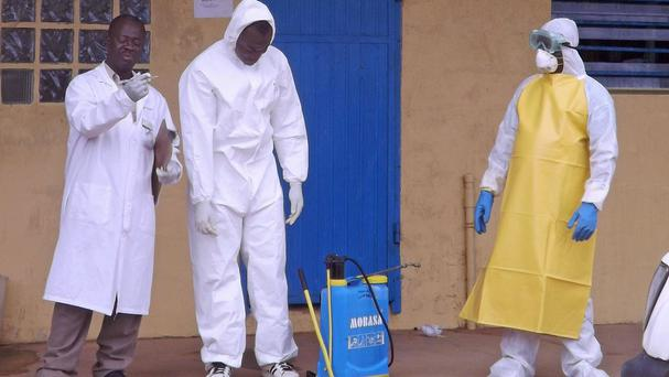 Nurses dealing with the Ebola outbreak in Liberia (AP)