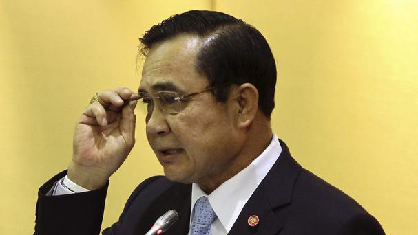 General Prayuth Chan-ocha was the only candidate put forward (AP)