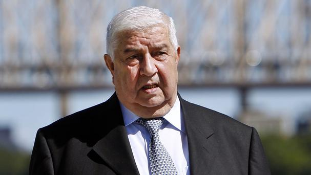Syrian foreign minister Walid al-Moallem said his country would work with others to fight Islamic State militants (AP)