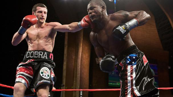 Jermain Taylor, right, during his WBC super-middleweight title bout against Carl Froch in 2009