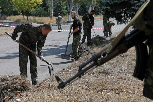 Prisoners-of-war, who are Ukrainian servicemen captured by pro-Russian separatists