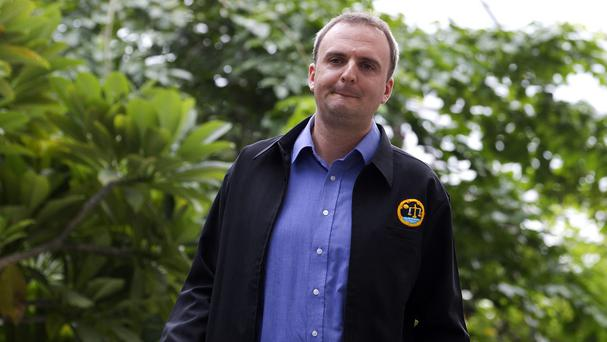Andy Hall has worked in Thailand for years and is an outspoken activist on migrant issues (AP)