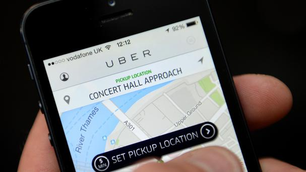 The Uber app allows customers to book and track vehicles