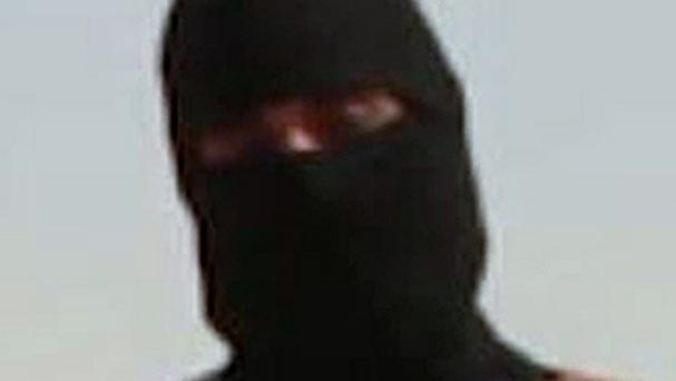 An Islamic State militant shown in the video of the killing of US journalist James Foley