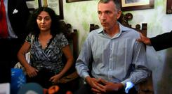 PLIGHT: Naghmeh and Brett King, parents of Ashya King, attend a news conference in Seville, last Wednesday. Photo: Miguel Angel Morenatti
