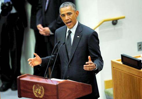 US President Barack Obama speaks at the United Nations meeting on the Ebola outbreak in New York. Reuters