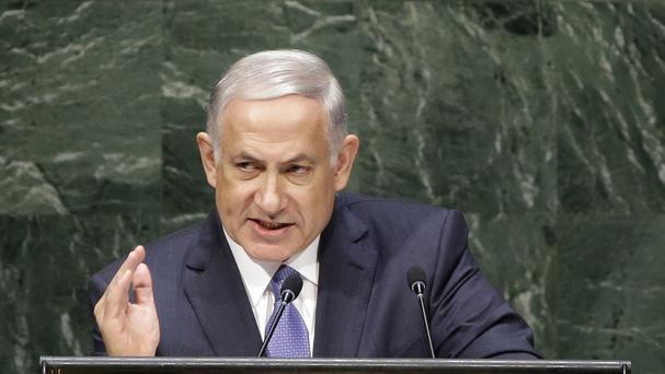 Benjamin Netanyahu speaks during the 69th session of the United Nations General Assembly at UN headquarters (AP)
