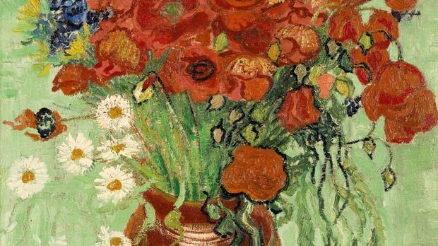 Vincent van Gogh's Still Life, Vase With Daisies and Poppies, painted weeks before his death, fetched nearly 62 million dollars at auction (Sotheby's/AP)