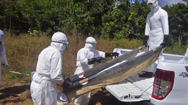 The Ebola death toll has risen to 5,459.