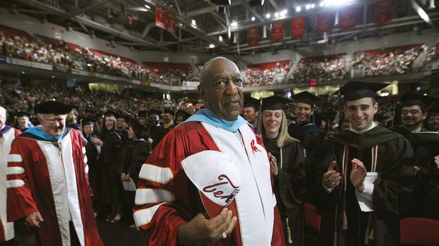 Comedian Bill Cosby, appearing at Temple University's commencement in Philadelphia in 2011 (AP)
