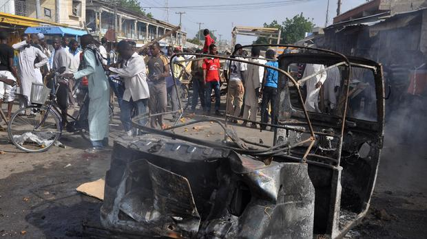 The marketplace in Maiduguri was the scene of a similar attack earlier this year (AP)