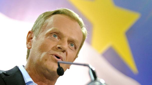 Mr Tusk, the president of the European Council, told MEPs that